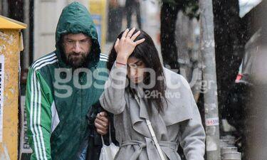 Μαραβέγιας - Σωτηροπούλου: Τους έπιασε η βροχή και έτρεχαν να κρυφτούν (photos)