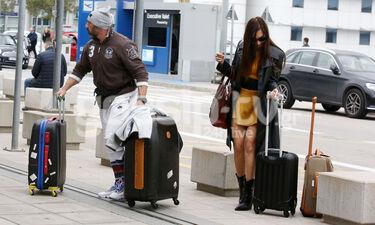 Μάγκυ Χαραλαμπίδου - Αλέξανδρος Σιλβεστρίδης: Για πού το έβαλαν με τόσες βαλίτσες; (photos)