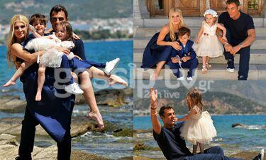 Χανταμπάκης- Πηλιάκη: Η βάφτιση της κόρης τους Μαλένας στον Βόλο (exclusive photos)