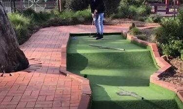 Αυτοί είναι οι χειρότεροι παίκτες στο mini golf (video)