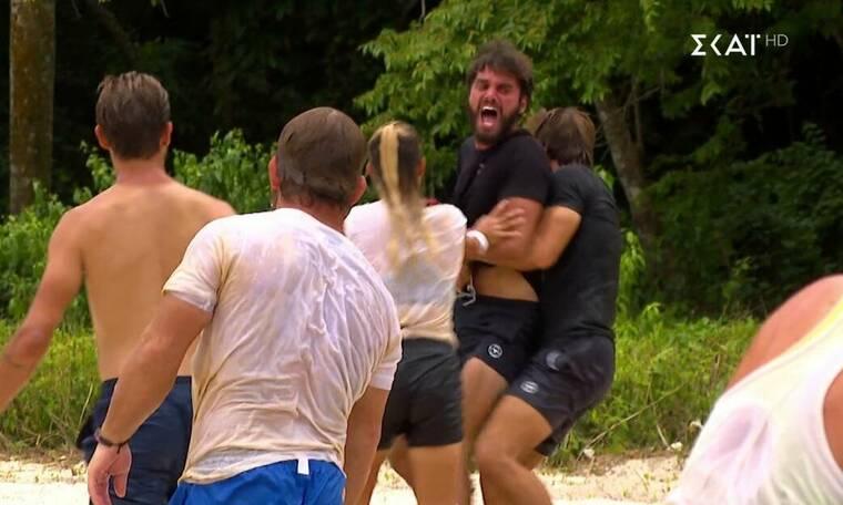 Survivor: Του όρμησε και παραλίγο να πιαστούν στα χέρια! Απίστευτος καβγάς και κατηγορίες (video)