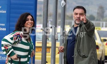 Γρηγόρης Αρναούτογλου-Νάνσυ Αντωνίου: Μαζί στο αεροδρόμιο το ερωτευμένο ζευγάρι