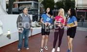 Μιζεράκη-Στεριανού στα γυρίσματα της ταινίας «Ρόδα τσάντα και κοπάνα»