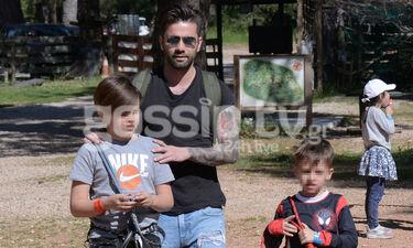 Οι πρώτες φωτογραφίες του Μαραντίνη με τους γιους του μετά τον χωρισμό (photos)