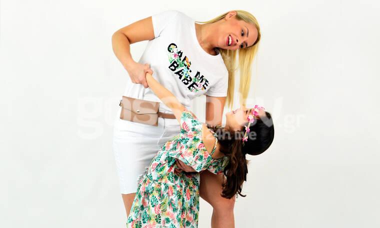 Η Έλενα Ασημακοπούλου φωτογραφίζεται πρώτη φορά με την κόρη της, Μαρία Ροζάρια (exclusive photos)