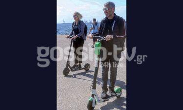 Αθερίδης-Καρύδη: Με πατίνια στην παραλία λίγο πριν εκείνος γίνει παππούς (photos)