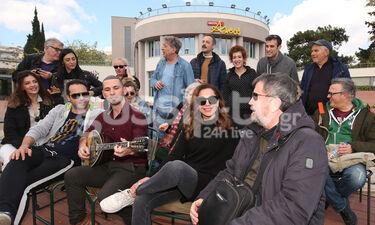 Ξενάγηση των συντελεστών της παράστασης «Το δικό μας σινεμά» στο θέατρο Άλσος (photos)