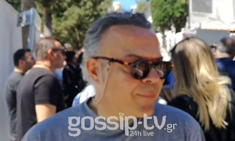 Κηδεία Ευριπιώτη: Ο Μιχάλης Ρέππας δεν μπόρεσε να πάει να τον δει στο νοσοκομείο (exclusive video)