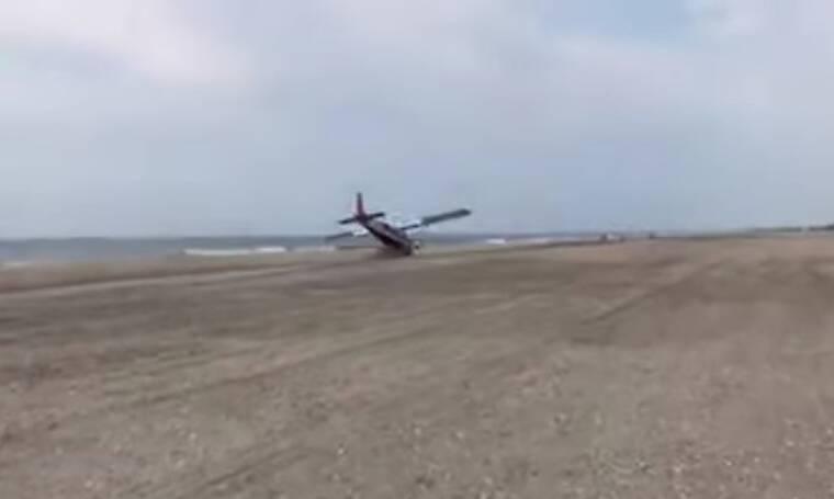 Προσπάθησε να κάνει αναγκαστική προσγείωση αλλά… (video)