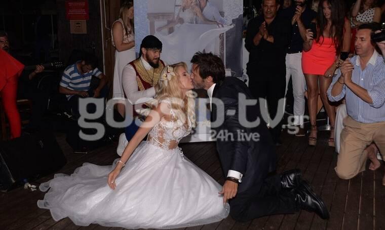 Γάμος Τζώρτζογλου - Μαριόλα: Όλα όσα δεν είδατε από το μυστήριο και το τρικούβερτο γλέντι (pics+vid)