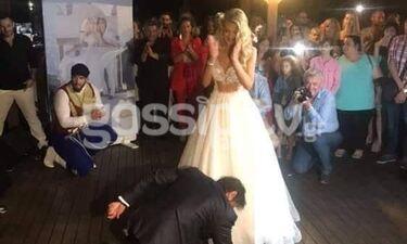Γάμος Τζώρτζογλου-Μαριόλα: Το βαρύ ζεϊμπέκικο του γαμπρού! (exclusive video)