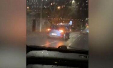 Μεθυσμένος οδηγούσε για 8 χιλιόμετρα με ανοιχτό το καπό! (pic+vid)