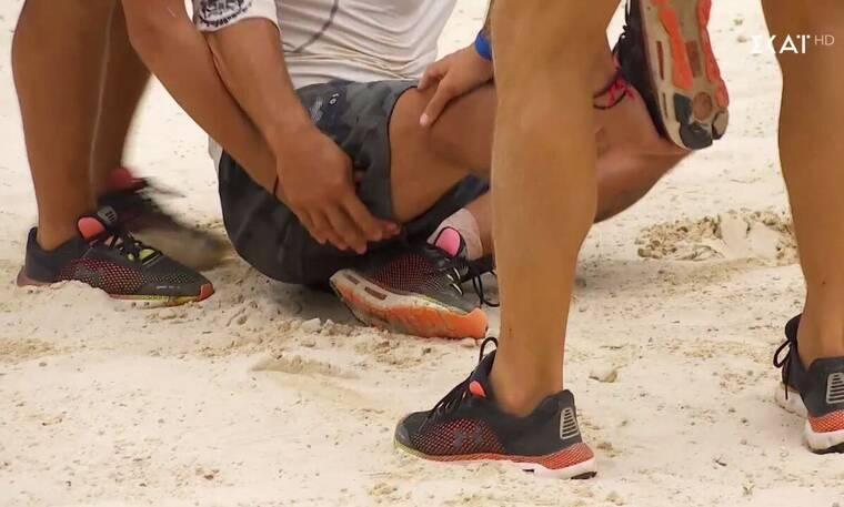 Survivor: Τραυματίστηκε πριν καλά καλά ξεκινήσει ο αγώνας - Ο Τανιμανίδης διέκοψε το παιχνίδι (vid)