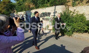 Γάμος Μπαλατσινού - Κικίλια: Η στιγμή που ο γαμπρός φτάνει στην εκκλησία (exclusive photos&video)