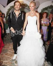 Ο γάμος τους είχε γίνει 17 Ιουλίου του 2011 στον Άγιο Νικόλαο στο Λουτράκι