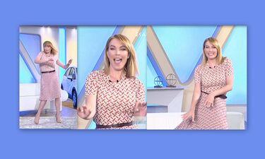 Τατιάνα Στεφανίδου: Ο ξέφρενος χορός της on air για τα μάτια του Μουτσινά! (Video)
