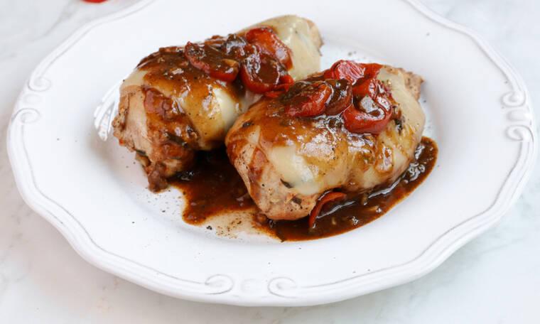 Λαχταριστό και εύκολο κοτόπουλο caprese