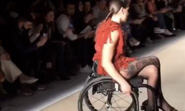 Μαθήματα ζωής από Ελληνίδα μοντέλο - Έκανε πασαρέλα καθισμένη σε αμαξίδιο (photos+video)