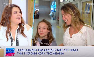 Καλοκαίρι #not: Η Αλεξάνδρα Πασχαλίδου βαφτίζει την κόρη της Μελίνα (video)