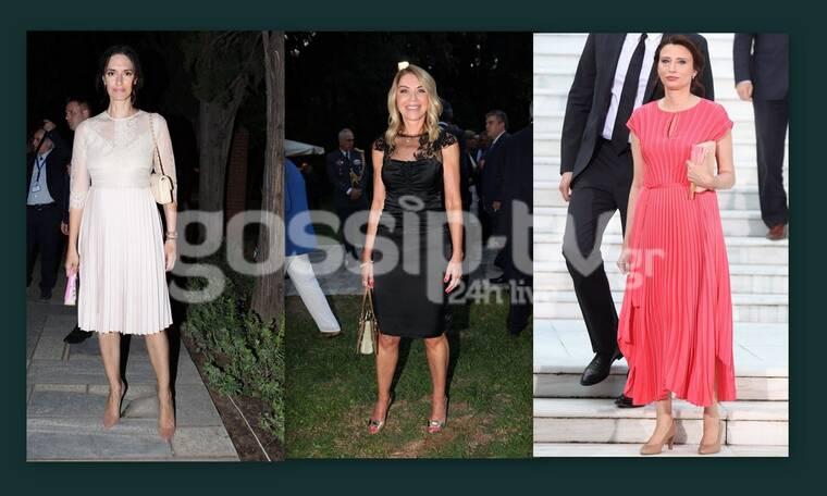 Γιορτή της Δημοκρατίας: Δείτε τι φόρεσαν οι κυρίες στο Προεδρικό Μέγαρο (pics)