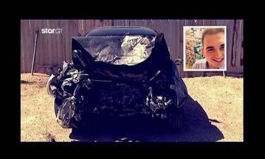 Αλέξανδρος Ζαχαριάς: Σοκαριστικές εικόνες από το διαλυμένο του αυτοκίνητο (video)
