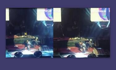 Η επική τούμπα τραγουδίστριας on stage και η απίστευτη αντίδρασή της! (Video & Photos)