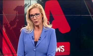Μαρία Νικόλτσιου: Δείτε πώς αντέδρασε την ώρα του σεισμού στο δελτίο ειδήσεων του Alpha! (Video)