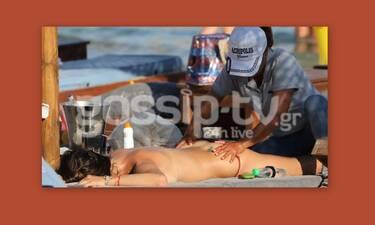 Μύκονος: Το μασάζ στην παραλία και το αποκαλυπτικό ατύχημα (Photos)
