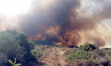 Φωτιά ΤΩΡΑ: Μεγάλη αναζωπύρωση στην Ελαφόνησο - Εκκενώθηκαν camping, ξενοδοχεία και σπίτια