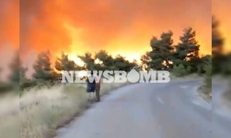 Φωτιά ΤΩΡΑ στην Εύβοια: Εντολή να εκκενώσουν τα χωριά περιμένουν οι κάτοικοι