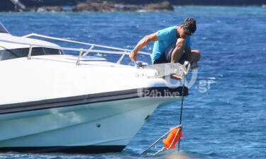 Ο... καπετάν Σάκης σε νέες θαλασσινές περιπέτειες, με Κάτια και παιδιά! (photos)