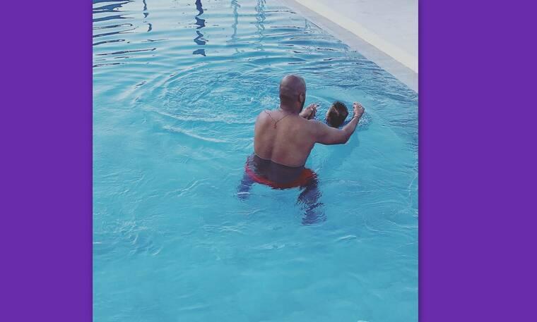 Ησαΐας Ματιάμπα: Δείτε την κούκλα γυναίκα του και το γιο του στις διακοπές τους (Photos)