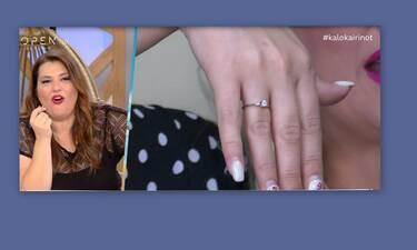 Άφωνη η Ζαρίφη! Ποια έδειξε το μονόπετρο και μίλησε πρώτη φορά για την εγκυμοσύνη της; (Video)
