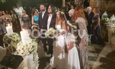 Γάμος Ευρυδίκης - Κατσιώνη: Το παραμυθένιο νυφικό και η υπέρλαμπρη νύφη (exclusive photos&video)