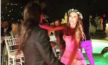 Γάμος Ευρυδίκης - Κατσιώνη: Το ξέφρενο γλέντι στο γαμήλιο πάρτι και η απίθανη τούρτα! (photos)