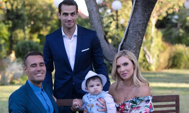 Αλούπη - Κέφαλος: Νέες φωτογραφίες από τη βάπτιση του γιου τους! (photos)