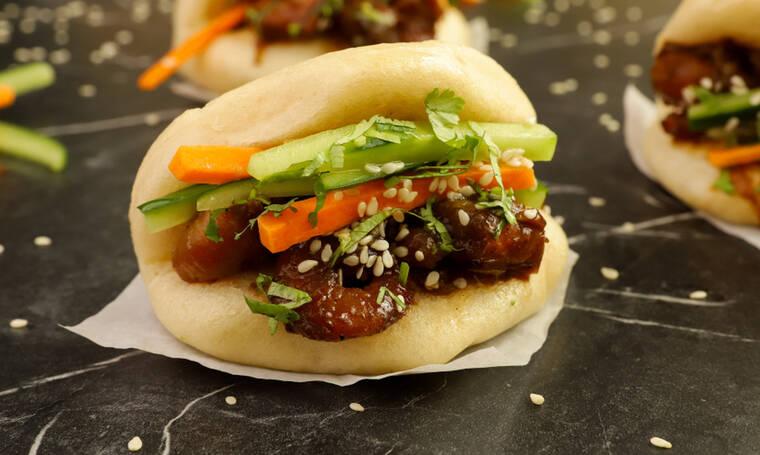 Πεντανόστιμα ψωμάκια στον ατμό(bao buns)
