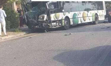 Σοβαρό τροχαίο με λεωφορείο του ΟΑΣΑ στο Μενίδι (photos)
