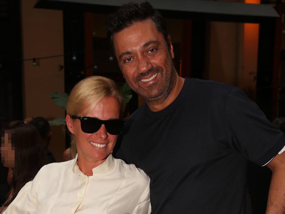 Με τη σύζυγό του Βίλλυ, η οποία τον συνόδευσε στην avant premiere του πρώτου επεισοδίου του X-Factor