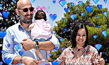Τσάβαλου-Στεργίου: Βάφτισαν την κόρη τους με νονούς τον Αϊβάζη και την Κορινθίου (photos)