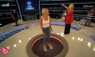 Απολαυστικό! Η Φαίη Σκορδά κάνει... βουτιά στο Still Standing! (video)