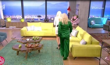 Κι όμως το τόλμησε! Εμφανίστηκε με πράσινο σατέν κουστούμι και μας εντυπωσίασε! (Photos & Video)