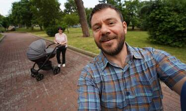 Happy Traveller: Ο Ευτύχης Μπλέτσας ξεκίνησε τα ταξίδια: Τα πρώτα πλάνα με την κόρη του (pics&vid)