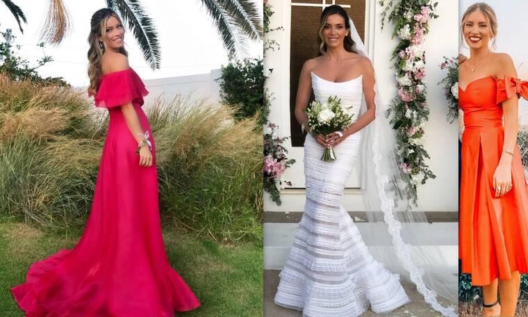 Νύφη, κουμπάρα και καλεσμένες με δημιουργίες από τον ίδιο οίκο μόδας σε λαμπερό γάμο! (photos)