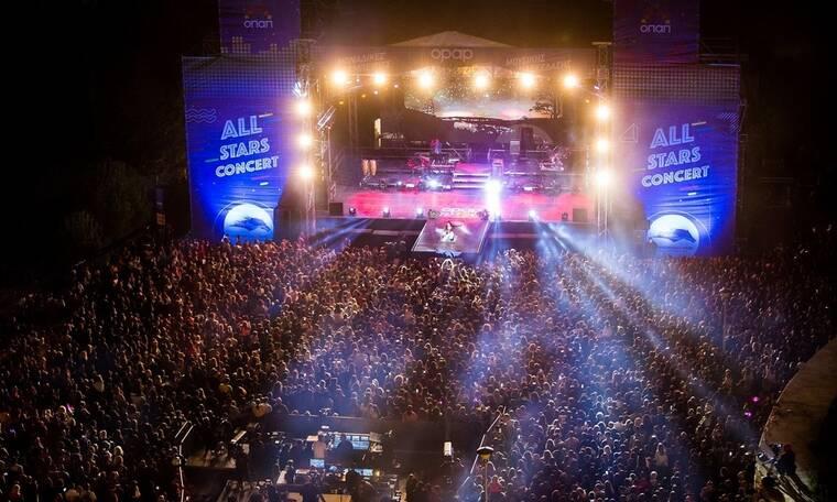 Αll Stars Concert: Ρουβάς- Παπαρίζου- Φουρέιρα ξεσηκώσαν περισσότερους από 12..000 θεατές
