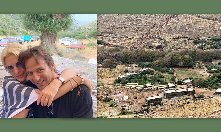 Μενεγάκη - Παντζόπουλος: Σκηνές καταστροφής στην ξενοδοχειακή μονάδα τους στην Άνδρο (Photos)