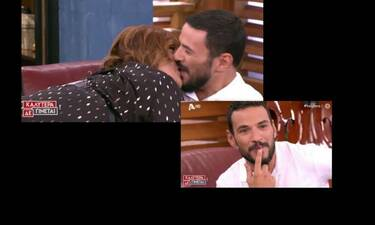 Καλύτερα δεν γίνεται: Απίστευτο! Πήγε καλεσμένη στην εκπομπή και φίλησε τον Τσουρό στο στόμα (video)