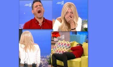 Το πρωινό: Δεν υπάρχει το στιγμιότυπο στην εκπομπή της Σκορδά- Έπεσαν όλοι στο πάτωμα! (Video)