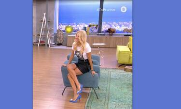 Φαίη Σκορδά: Το καυτό σταυροπόδι και οι γόβες της που μας έκαναν εντύπωση! (Video & Photos)
