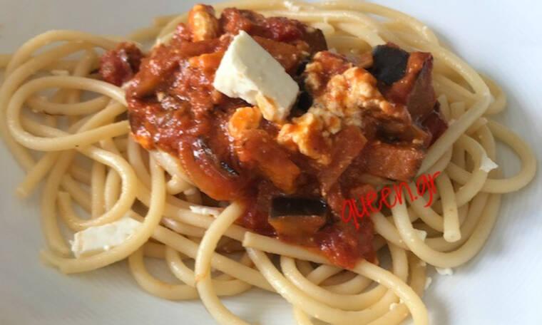 Εύκολη και νόστιμη Σπαγγέτι με Μελιτζάνες (Γράφει η Majenco αποκλειστικά στο Queen.gr)